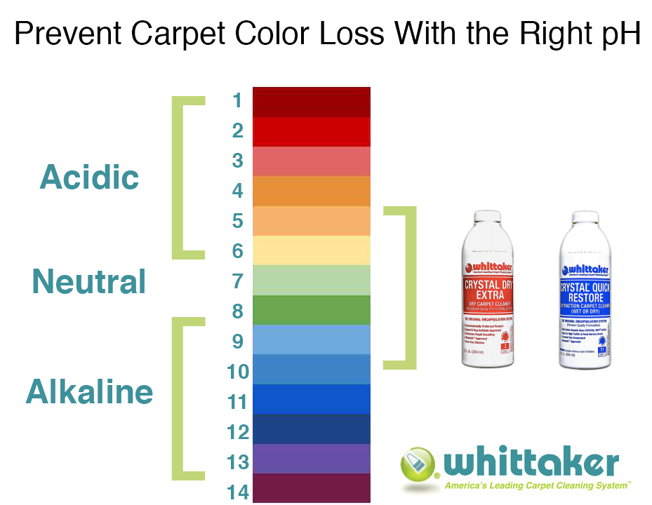 whittaker carpet cleaning chemistry ph