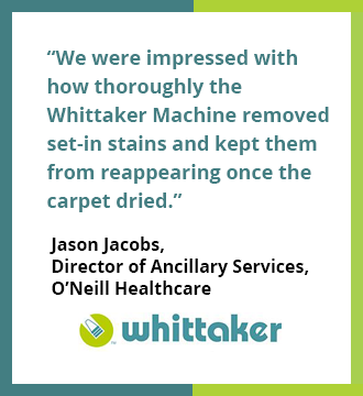 Testimonial for Whittaker Smart Care Carpet Cleaning System